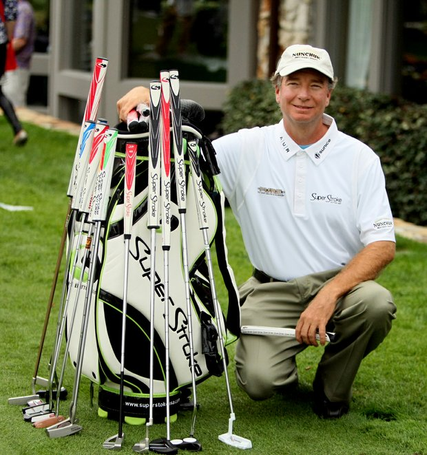 Arnie Cunningham with Super Stroke on Wednesday of the Arnold Palmer Invitational at Bay Hill Club and Lodge.