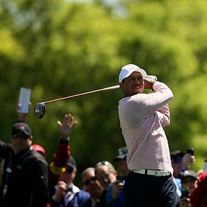 Tiger Woods during the 2013 Tavistock Cup at Isleworth Country Club.