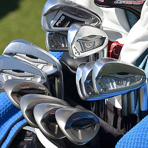 Angel Cabrera recently switched back to his Ping S56 irons, but kept his Ping i20 3-iron in the bag.