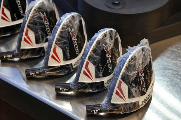 The first Callaway X Hot 3Deep fairway woods arrived in the company's PGA Tour van on Tuesday morning.