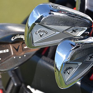 Colt Knost uses Callaway RAZR X Forged irons and the company's X Series JAWS wedges.