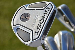 James Driscoll's TaylorMade Ghost Manta putter is showing a little wear.