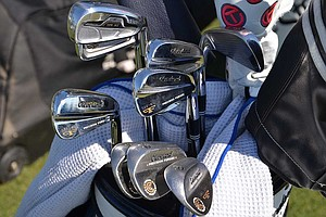 Jason Kokrak is using a set of Cleveland Forged 588 MB irons in Houston, but he also has a 588MT 3-iron.