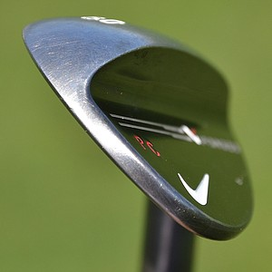 Paul Casey's new Nike VR Forged 60-degree lob wedge has an extra-wide sole and bounce area designed to work well in light, fluffy sand.