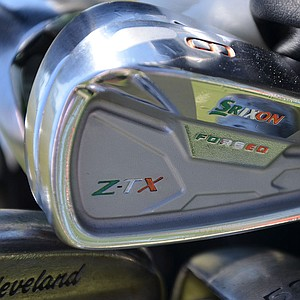 Ireland's Shane Lowry, who defeated Rory McIlroy at the WGC-Accenture Match Play Championship, shows his national pride on his Srixon Z-TX irons.