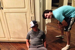 Rickie Fowler doing his version of #Dufnering.