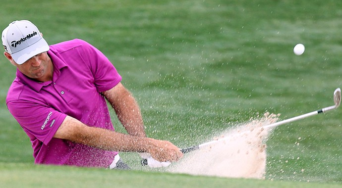 Stewart Cink moved into a share of the lead during the third round of the 2013 Shell Houston Open.
