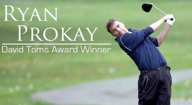 Ryan Prokay, a sophomore at Robert Morris, is the recipient of the 2013 David Toms Award.