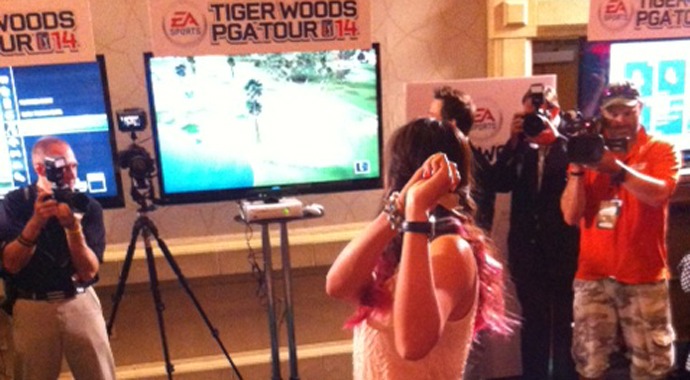 Celebs, LPGA stars pair for video-game contest