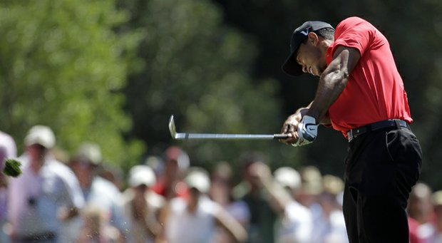 Tiger Woods during the final round of the 2012 Masters.