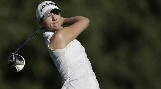 Jodi Ewart Shadoff during the first round of the 2013 Kraft Nabisco Championship in Rancho Mirage, Calif.
