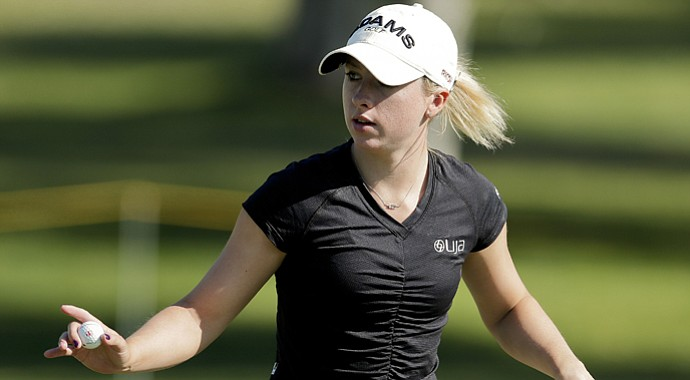 Jodi Ewart Shadoff during the second round of the 2013 Kraft Nabisco Open.