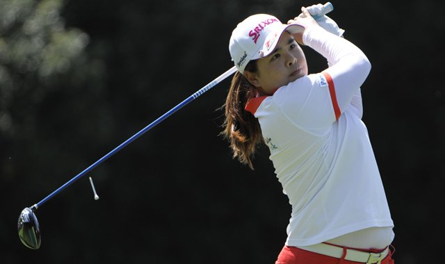 Inbee Park will tee off in the final group Saturday in the 2013 Kraft Nabisco Championship.