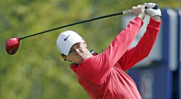Rory McIlroy during the third round of the Valero Texas Open.