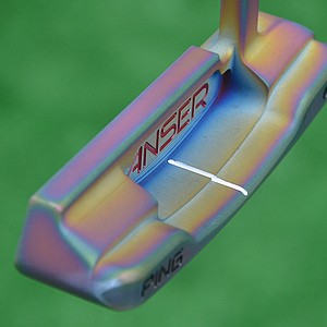 Bubba Watson asked Ping to give his Anser Milled No. 1 putter a unique finish that reflects pink and purple hues.