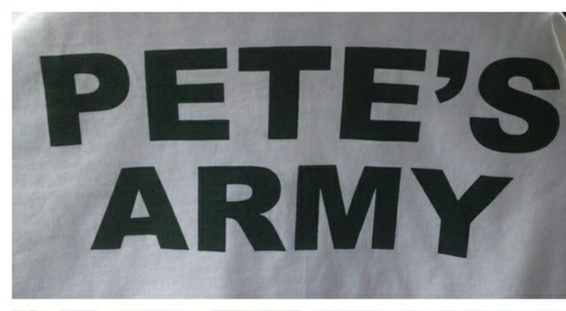 """One of John Peterson's friends designed t-shirts for the week for August National: """"Pete's Army"""""""