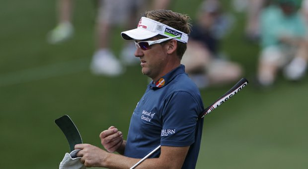 Ian Poulter during Tuesday practice at the 2013 Masters in Augusta, Ga.