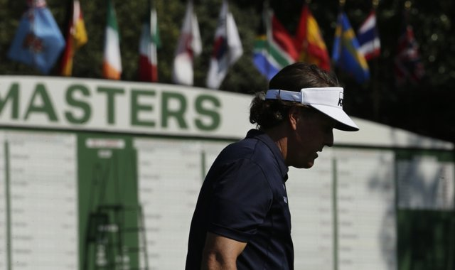 Phil Mickelson during a Tuesday practice round for the 2013 Masters in Augusta, Ga. 
