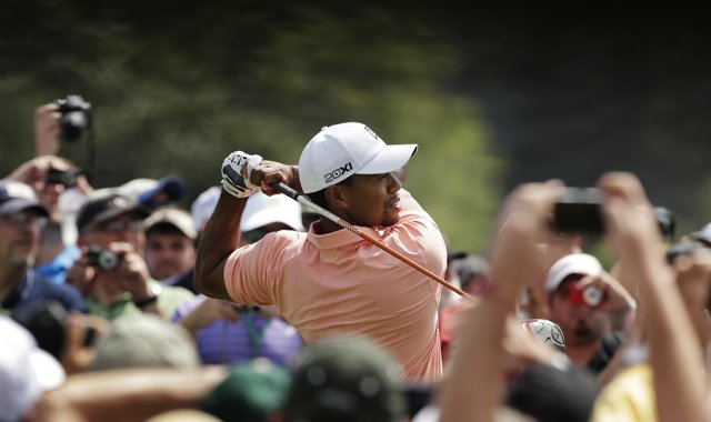 Tiger Woods during a Tuesday practice round for the 2013 Masters in Augusta, Ga. 