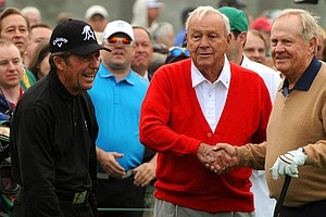 Gary Player (left), Arnold Palmer (middle) and Jack Nicklaus