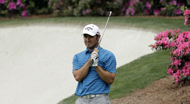 Trevor Immelman during the first round of the 2013 Masters at Augusta National.