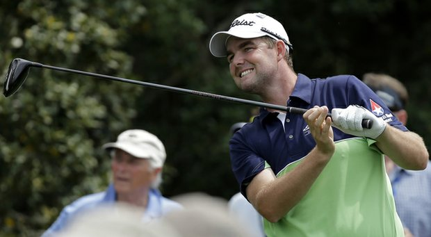 Marc Leishman during the first round of the 2013 Masters at Augusta National.