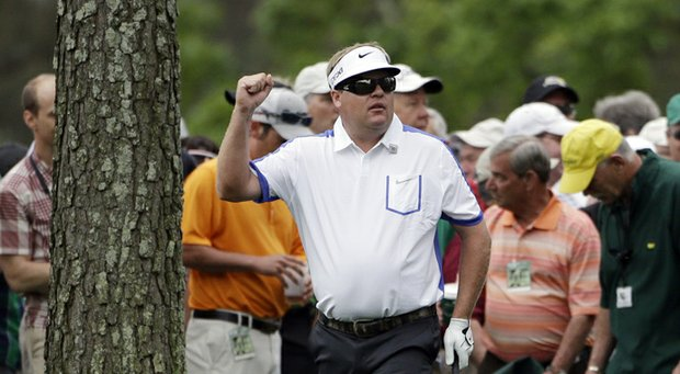 Carl Pettersson during Thursday's first round of the 2013 Masters at Augusta National.