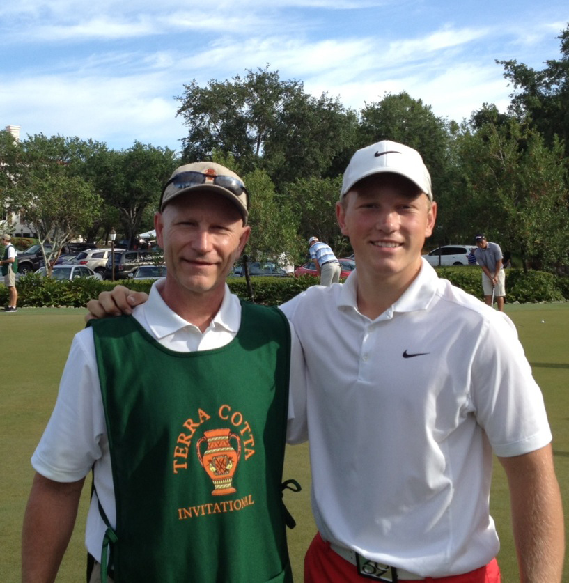 Brad Dalke, right, and his uncle, Larry Dalke, during the Terra Cotta Amateur.