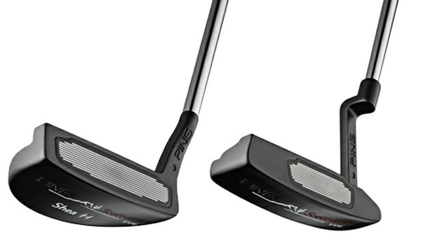 Ping staff players, including Lee Westwood and Hunter Mahan, used adjustable Scottsdale TR putters, featuring grooves designed to enhance distance control on off-center hits.