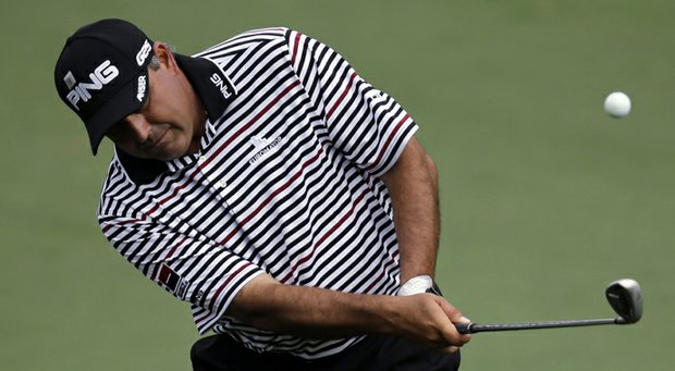 Angel Cabrera during the second round of the 2013 Masters.