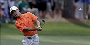 Tianlang Guan awaits cut line at Masters