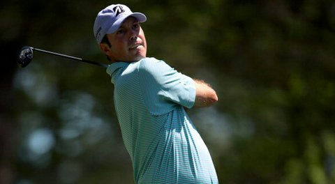 Matt Kuchar, of the United States, hits his tee shot on the fourth hole during the third round of the Masters.