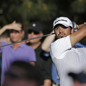 Jason Day, of Australia, tees off on the 15th hole during the third round.