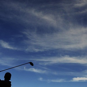 Jason Day, of Australia, tees off on the 14th hole during the third round of the Masters.