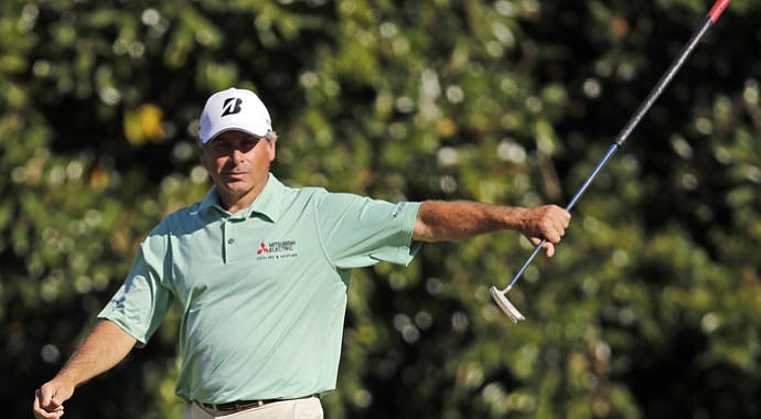 Fred Couples during the third round of the 2013 Masters.
