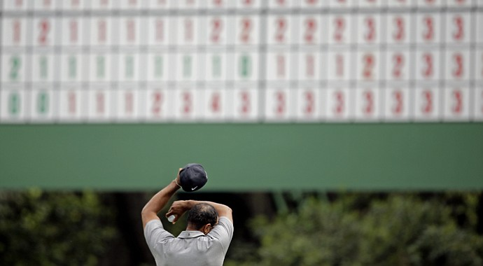 Tiger Woods during the first round of the 2013 Masters.