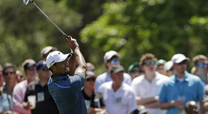 Mark Steinberg says that Tiger Woods� words that prompted a late-night video review by Masters officials mean that, �??He in effect called it (the penalty) on himself.