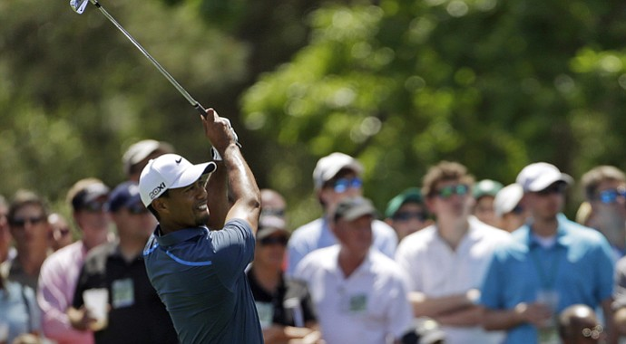 Tiger Woods during the third round of the 2013 Masters.