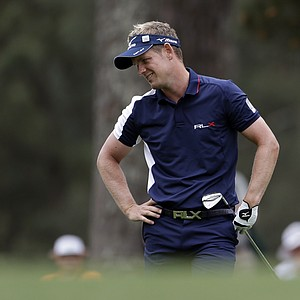 Luke Donald during the final round of the 77th Masters Sunday at Augusta National.