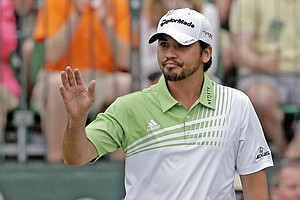 Jason Day during the final round of the Masters Sunday at Augusta National.
