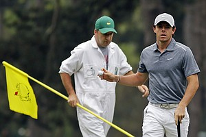 Rory McIlroy during the final round of the 77th Masters Sunday at Augusta National.