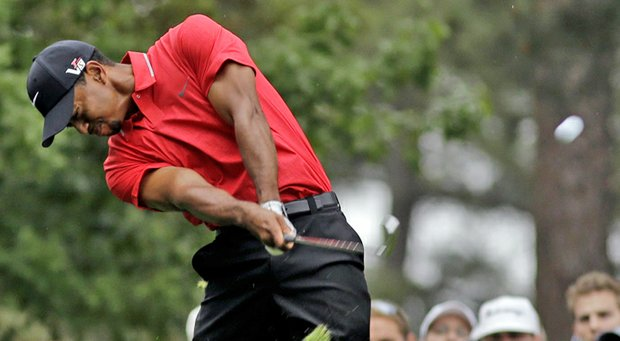 Tiger Woods during the final round of the Masters Sunday at Augusta National.