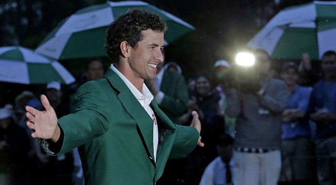 Adam Scott after winning the 2013 Masters in a playoff.