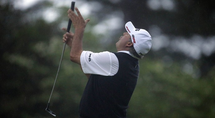 Angel Cabrera during the playoff at the 2013 Masters.