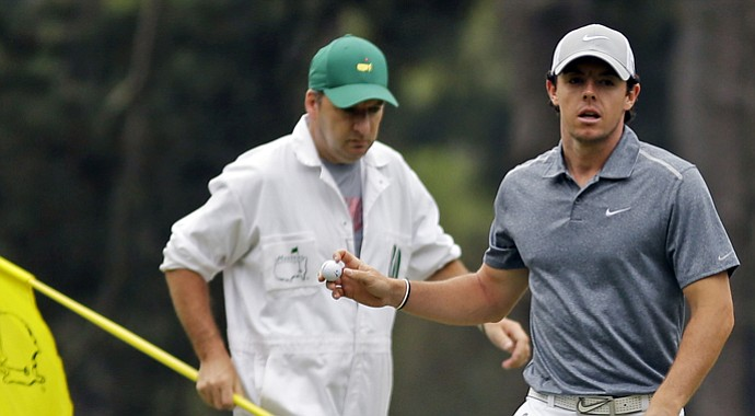 Rory McIlroy during the final round of the 2013 Masters.