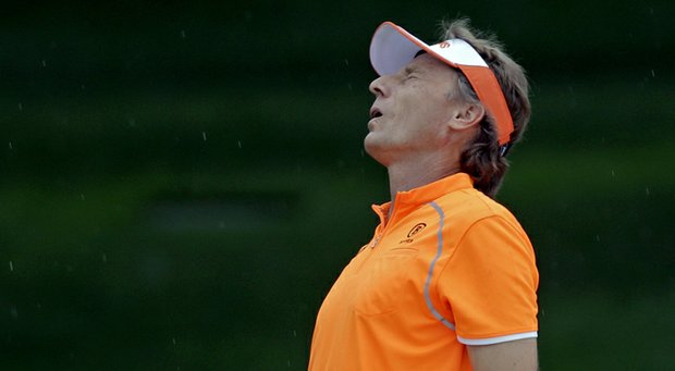 Bernhard Langer during the final round of the 2013 Masters.