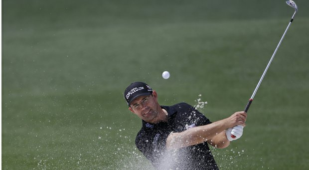 Padraig Harrington during practice at Augusta National for the 2013 Masters.