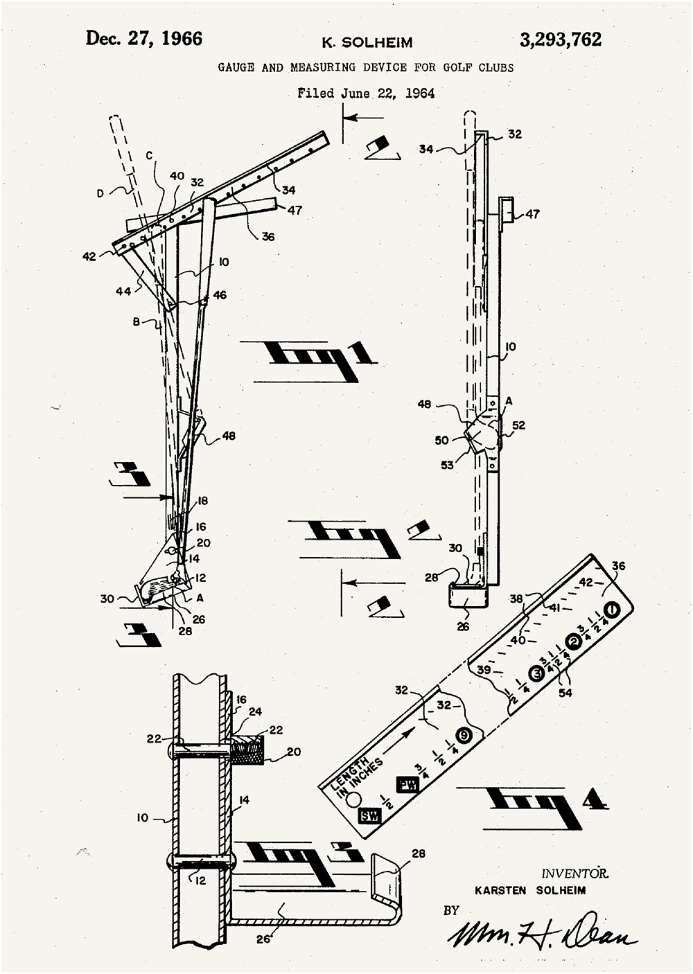 In 1966, Karsten Solheim developed this gauge and measuring device for golf clubs.