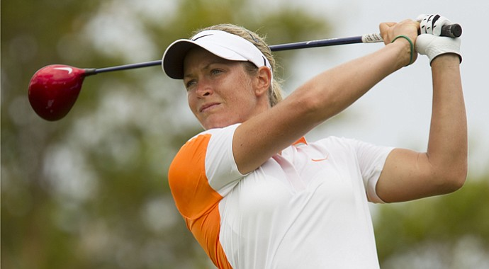 Suzann Pettersen during the third round of the LPGA Lotte Championship.