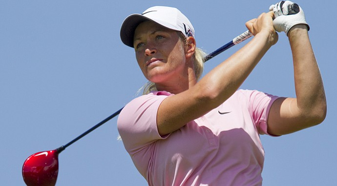 Suzann Pettersen during the final round of the 2013 LPGA Lotte Championship.